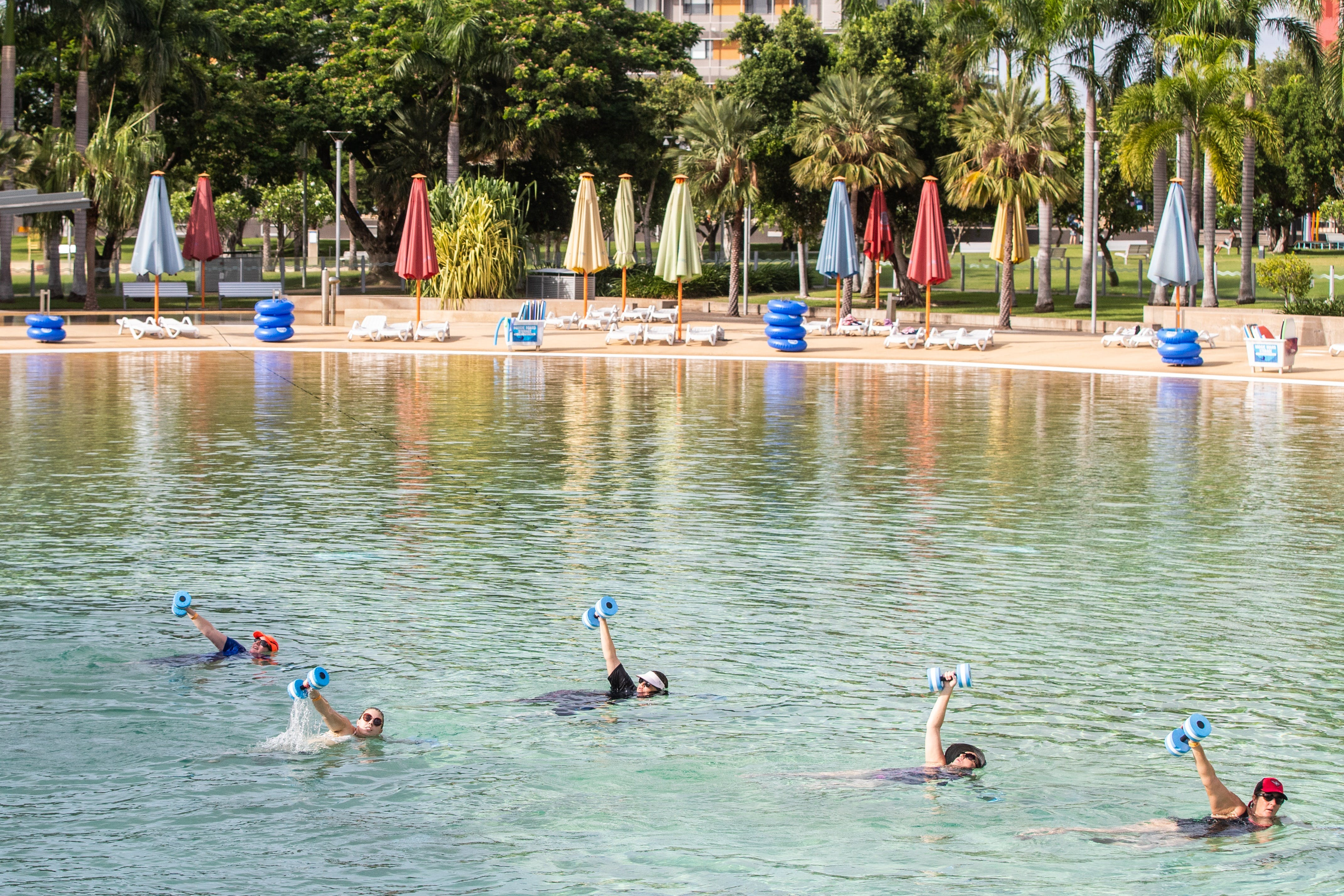 Aqua fitness in the Wave Lagoon - Townsville Tourism
