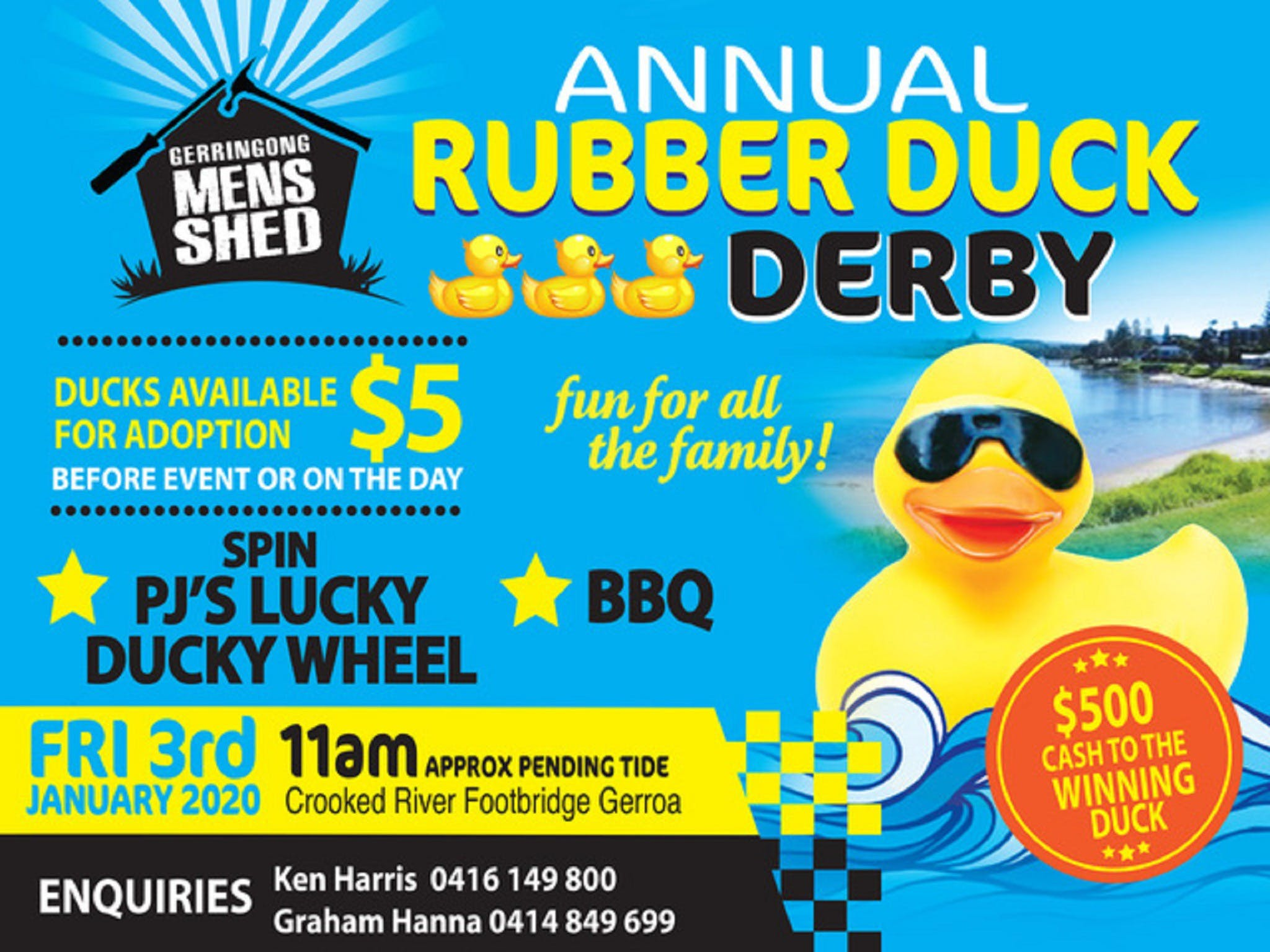 Gerringong Mens Shed Annual Duck Derby - Townsville Tourism