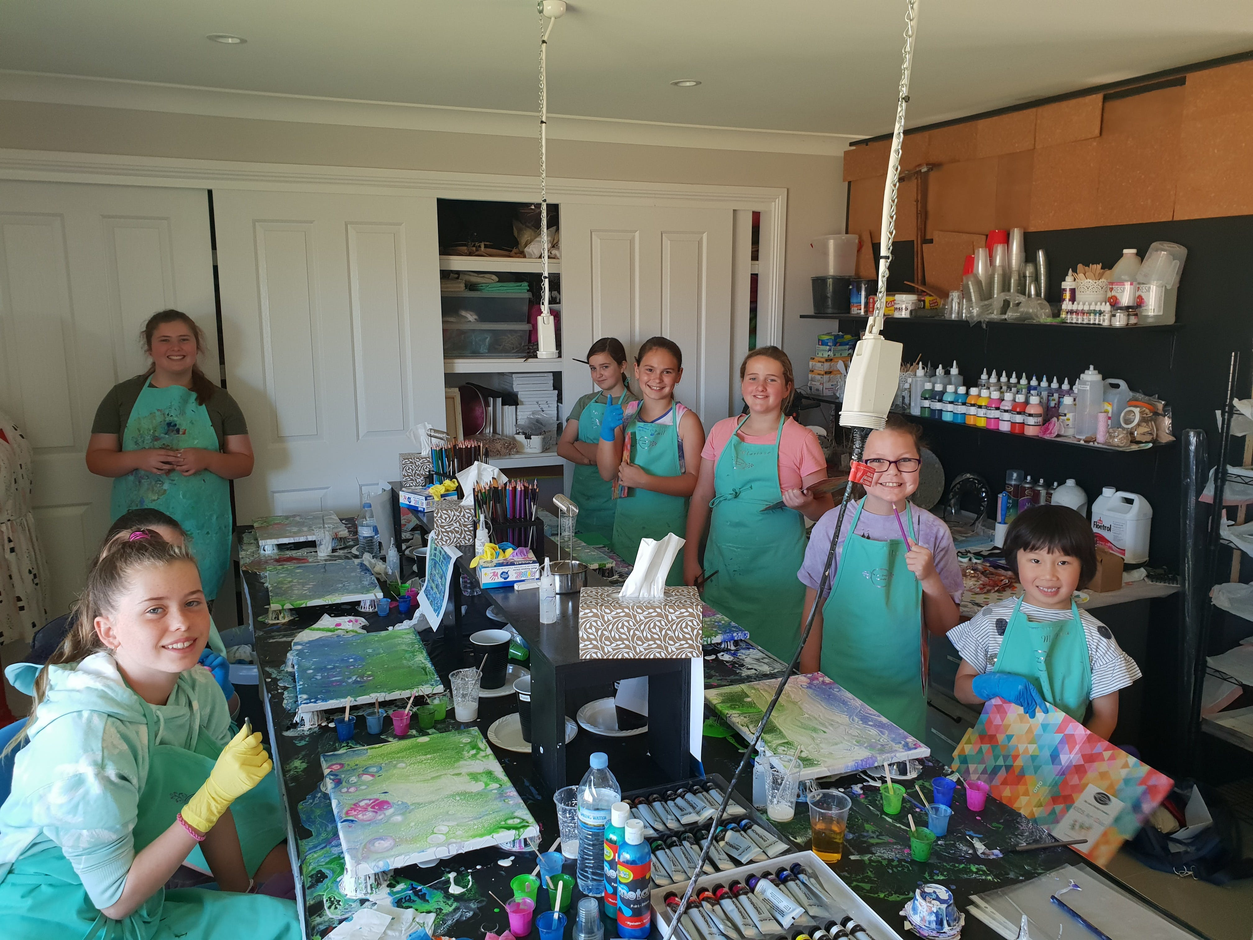 School holidays - Kids art class - Painting - Townsville Tourism
