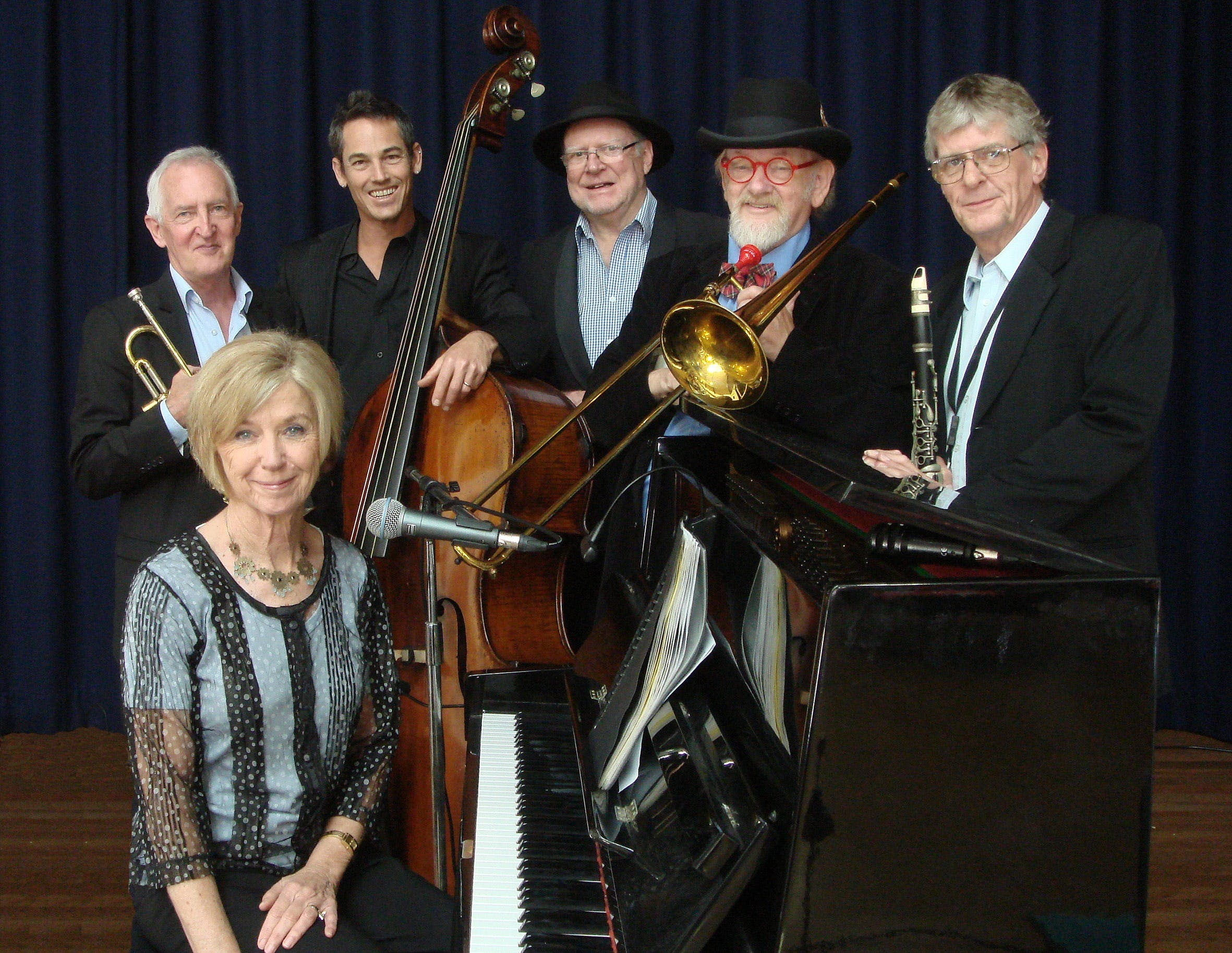The Caxton Street Jazz Band in the Swigmore Hall at Robert Channon Wines - Townsville Tourism